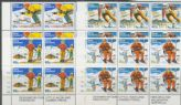 SG 1336-9 Ski-slope Scenery set of 4 plate blocks of 6 (NF1/114)